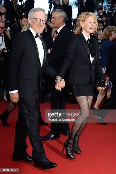 Jury president Steven Spielberg and Kate Capshaw attend the 'La Venus A La Fourrure' premiere during The 66th Annual Cannes Film Festival at Theatre...