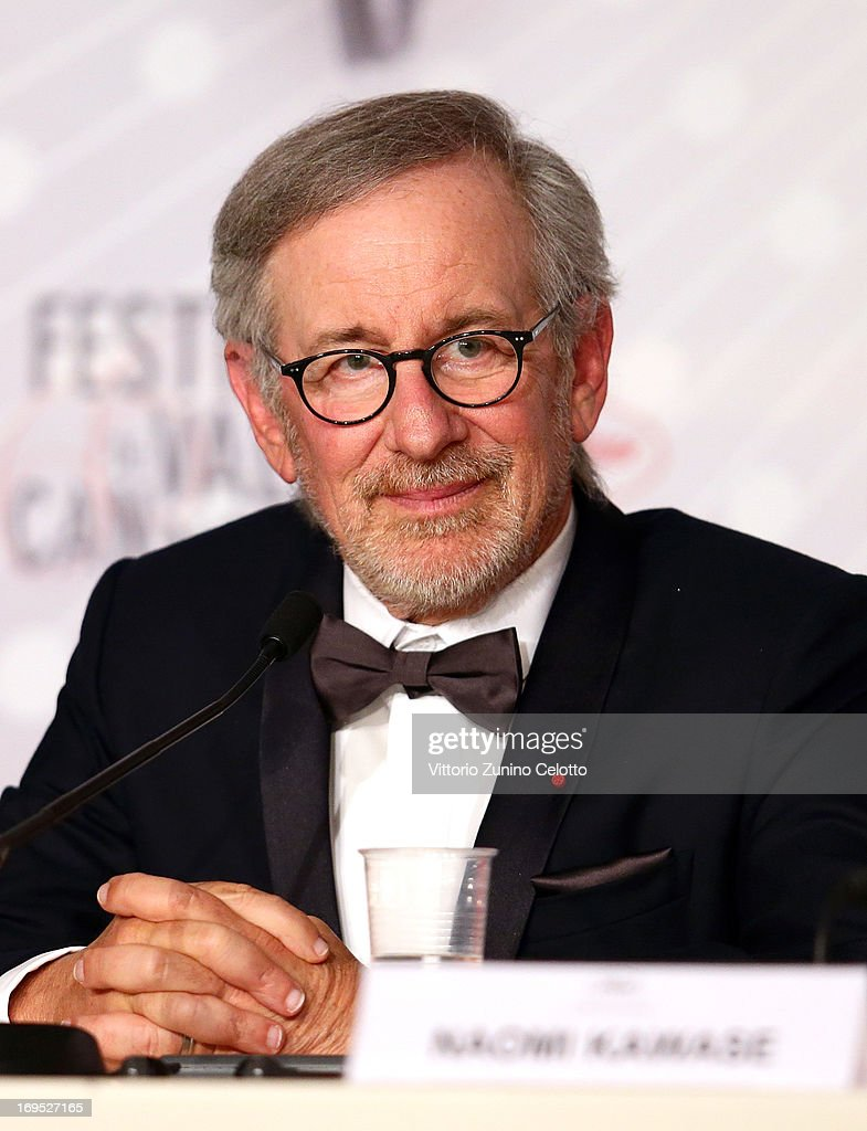 Jury president <a gi-track='captionPersonalityLinkClicked' href=/galleries/search?phrase=Steven+Spielberg&family=editorial&specificpeople=202022 ng-click='$event.stopPropagation()'>Steven Spielberg</a> attends the Palme D'Or Winners Press Conference during the 66th Annual Cannes Film Festival at the Palais des Festivals on May 26, 2013 in Cannes, France.
