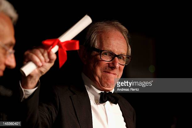 Jury Prize winner for 'The Angels Share' Ken Loach attends the Winners Press Conference during the 65th Annual Cannes Film Festival on May 27 2012 in...
