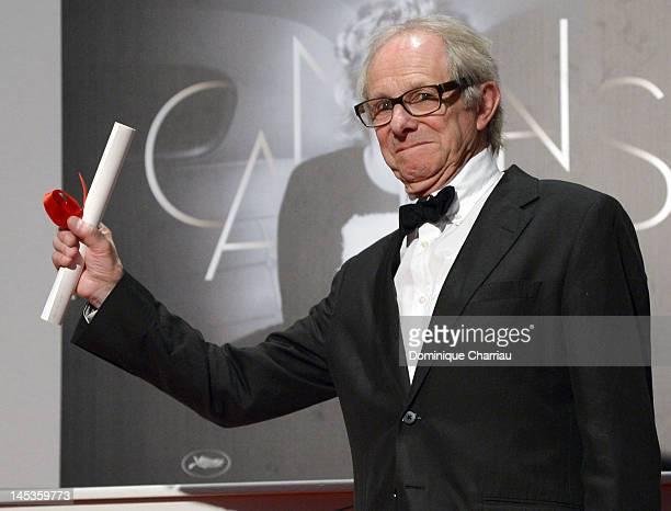 Jury Prize winner for 'The Angels Share' Ken Loach poses at the Winners Photocall during the 65th Annual Cannes Film Festival at Palais des Festivals...