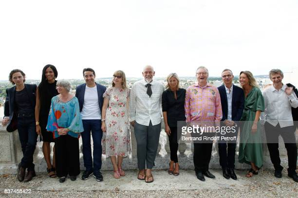 Jury Singer Raphael actress Stefi Celma cocreator of the Festival MarieFrance Briere editorial manager at 'Canal Plus Cinema' Ivan Guyot producer...