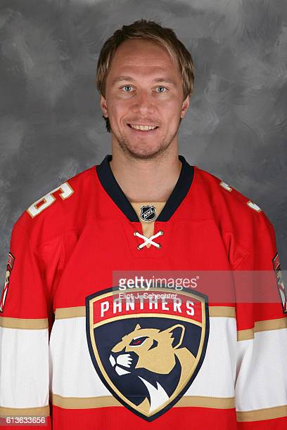 Jussi Jokinen of the Florida Panthers poses for his official headshot for the 20162017 season on September 22 2016 at the BBT Center in Sunrise...