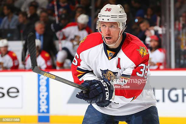 Jussi Jokinen of the Florida Panthers skates against the New York Islanders in Game Six of the Eastern Conference First Round during the NHL 2016...