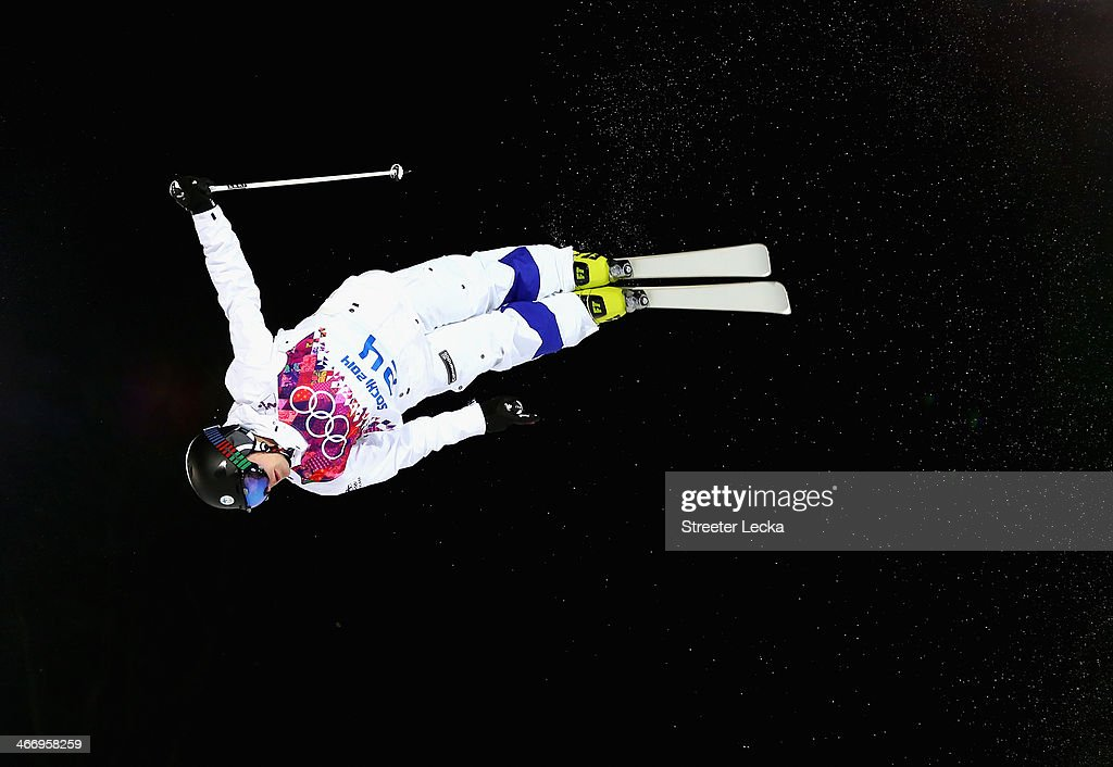 Jussi Penttala of Finland trains during moguls practice at the Extreme Park at Rosa Khutor Mountain ahead of the Sochi 2014 Winter Olympics on February 5, 2014 in Sochi, Russia.