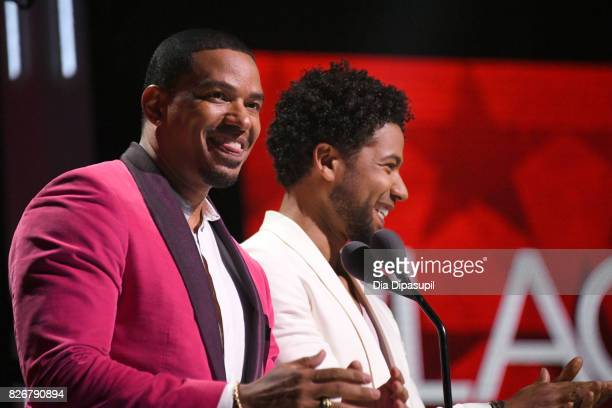 Jussie Smollett and Laz Alonso speaks onstage during Black Girls Rock 2017 at NJPAC on August 5 2017 in Newark New Jersey
