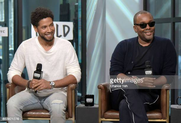 Jussie Smollett and Lee Daniels attend Build series to discuss their show 'Empire' at Build Studio on September 25 2017 in New York City