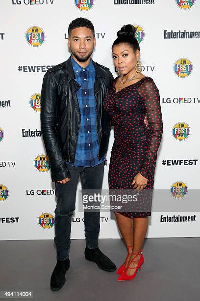 Jussie Smollett and Taraji P Henson attend Entertainment Weekly's first ever 'EW Fest' presented by LG OLED TV on October 24 2015 in New York City
