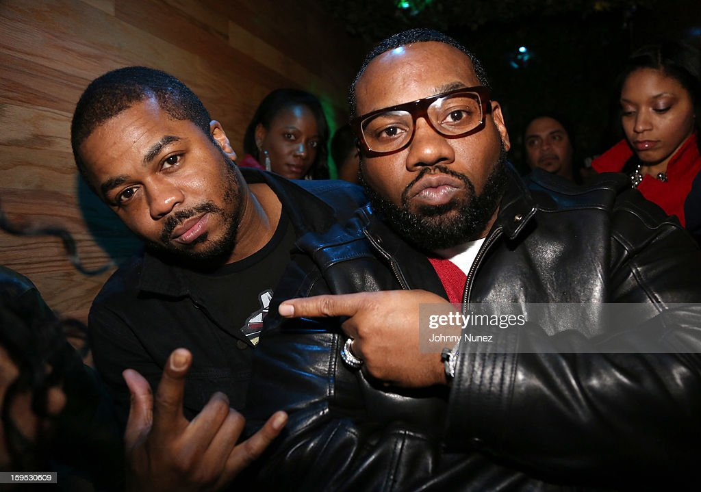 Just Blaze and <a gi-track='captionPersonalityLinkClicked' href=/galleries/search?phrase=Raekwon&family=editorial&specificpeople=798556 ng-click='$event.stopPropagation()'>Raekwon</a> celebrate <a gi-track='captionPersonalityLinkClicked' href=/galleries/search?phrase=Raekwon&family=editorial&specificpeople=798556 ng-click='$event.stopPropagation()'>Raekwon</a>'s birthday at Greenhouse on January 14, 2013 in New York City.