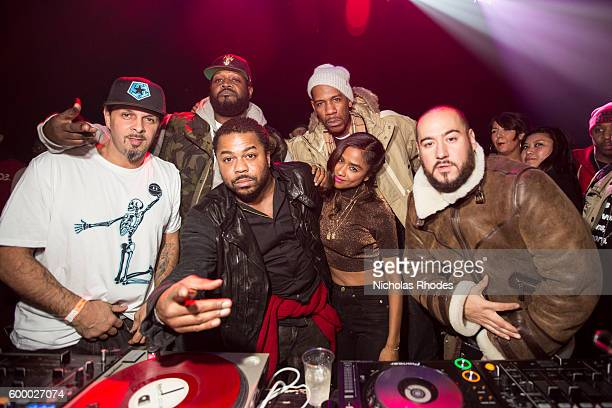 Just Blaze celebrates his birthday with DJ Tony Touch MC Cory Townes DJ Clark Kent Vashtie Kola Young Guru DJ Bobby Trends at House Party NYC at...