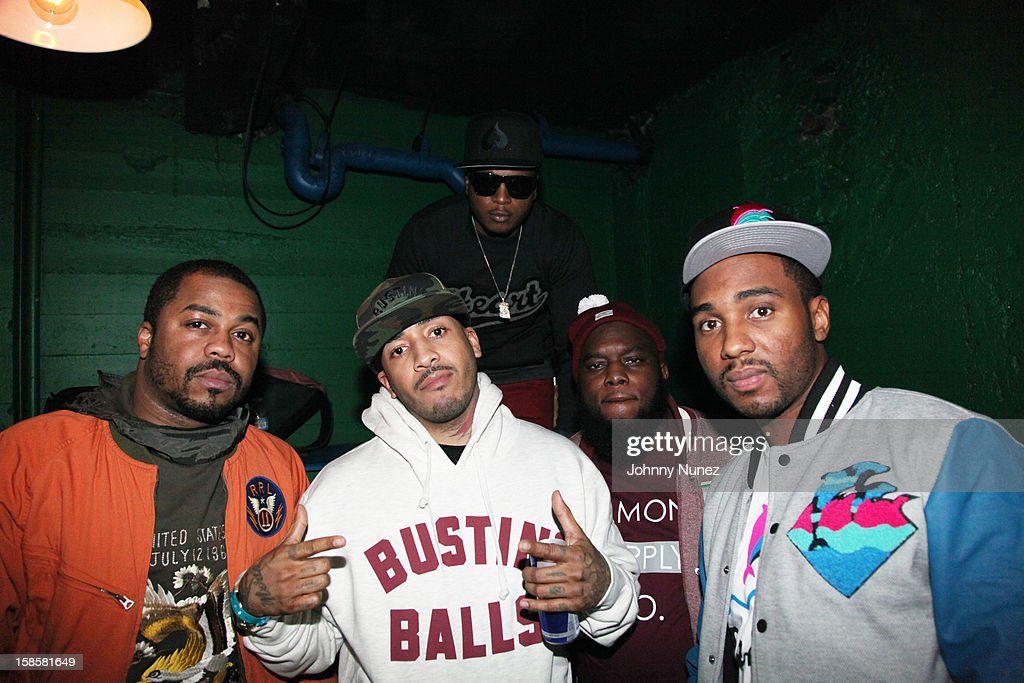 Just Blaze, Peedi Crakk,Youn Chris, Philly Freeway and Neef attend the Roc-A-Fella Reunion at Gramercy Theatre on December 19, 2012 in New York City.