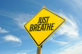 Just Breathe sign