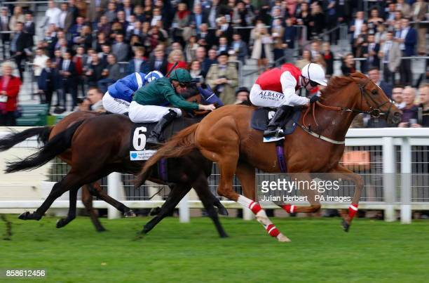 Just Glamorous ridden by Oisin Murphy wins the Hope And Homes For Children Rous Stakes at Ascot Racecourse
