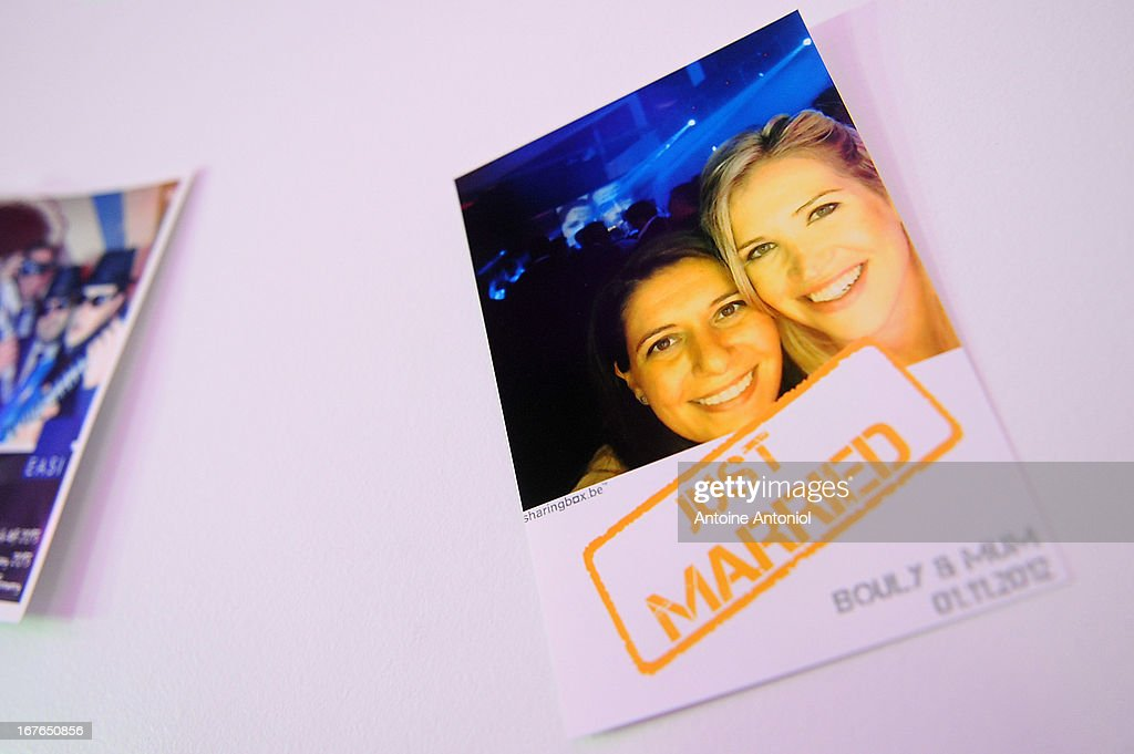 A 'just married' picture is seen at the gay marriage show on April 27, 2013 in Paris, France. The show takes place four days after France legalised same-sex marriage at the National Assembly.