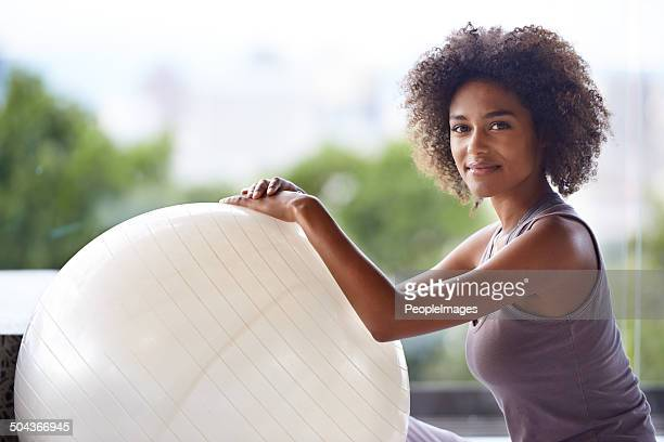 Just me and my exercise ball