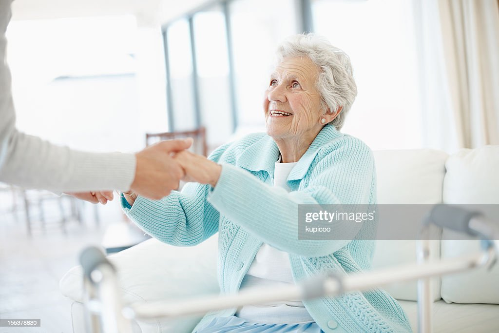 I just need a little help - Senior Care : Stock Photo