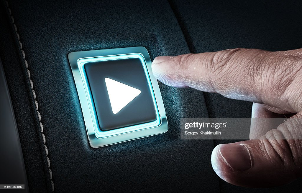 Just push the button . Mixed media : Stock Photo