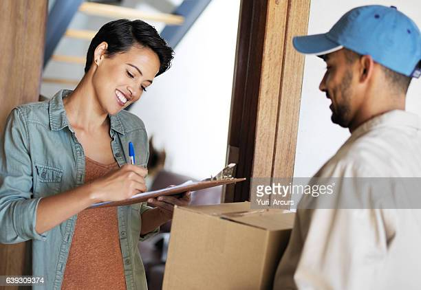 Just sign and the package is yours