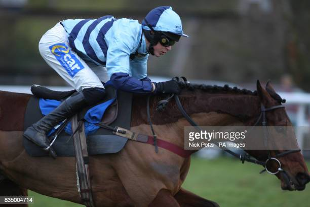 Just Smudge ridden Aidan Coleman goes on to win The Sidney Phillips Novices Handicap at Ludlow Racecourse Shorpshire