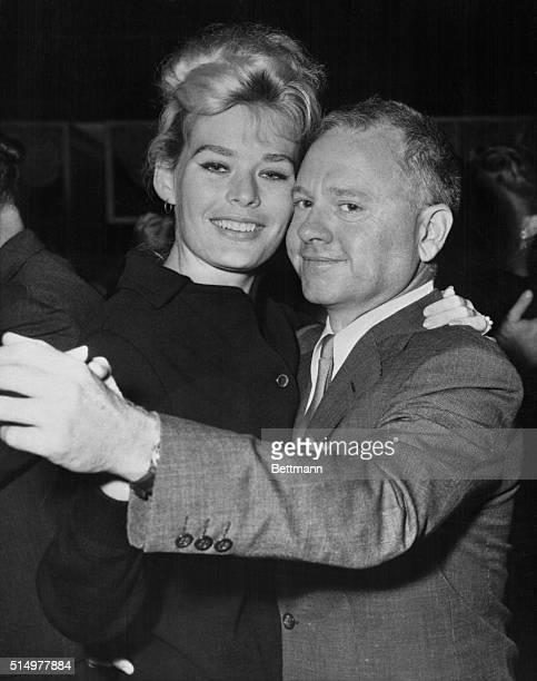 Just the Right Size New York Actor Mickey Rooney is shown dancing with his fifth wife starlet Barbara Thomason at the Harwyn Club in New York It was...