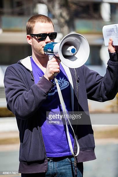 Nur wir eine Demonstration Lautsprecher