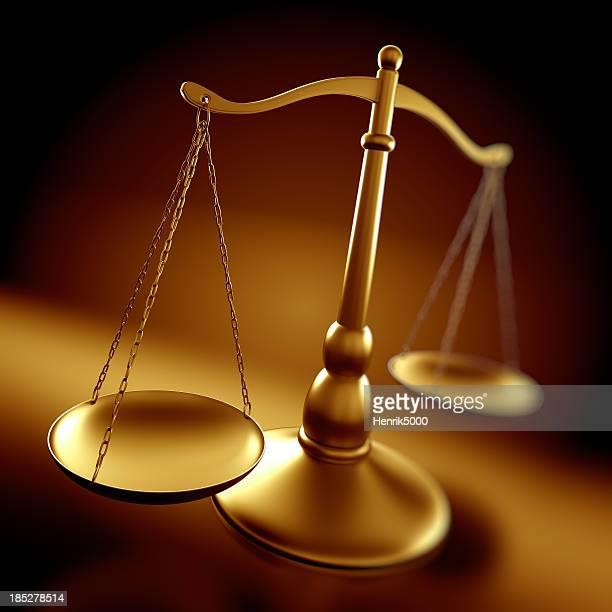 Conceito de Justiça escalas com profundidade de campo
