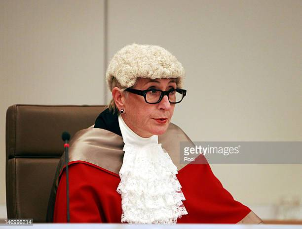 Justice Elizabeth Fullerton presides over the court alongside Justice Peter McCellan and Justice Peter Garling as Jeffrey Gilham is acquitted for the...