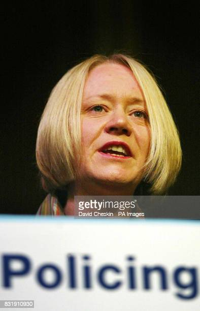 Justice Minister Cathy Jamieson gives an to address the Scottish Police Federation Annual Conference which lasts two days at Peebles Hotel Hydro in...
