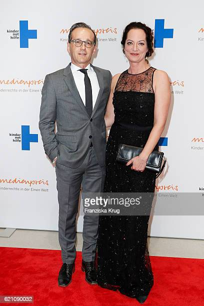 Justice Minister Heiko Maas and Natalia Woerner attend the 18th Media Award by Kindernothilfe at Volkswagen Group Forum on November 4 2016 in Berlin...
