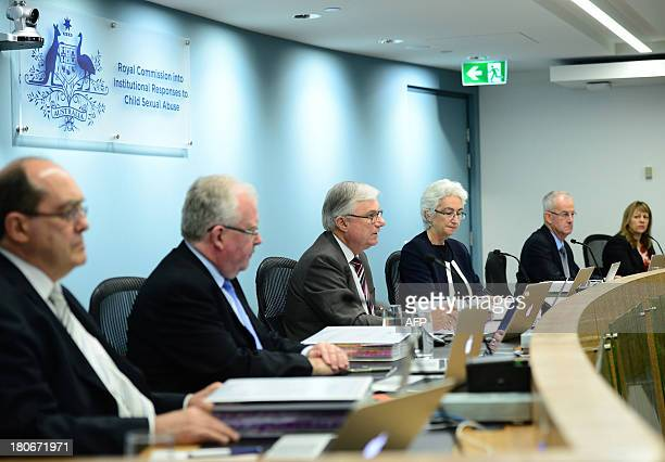 Justice Peter McClellan gives his opening remarks at the beginning of the public hearings at the Royal Commission into Institutional Responses to...