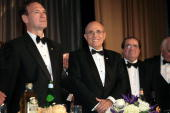 Justice Samuel Alito Jr Rudy Giuliani and Justice Antonin Scalia are seen on stage at NIAF's 32nd Anniversary Awards Gala on October 13 2007 in...