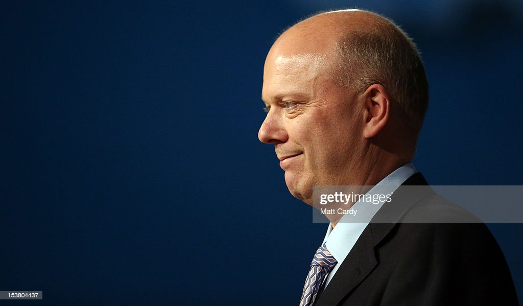 Justice secretary Chris Grayling speaks at the Conservative party conference in the International Convention Centre on October 9, 2012 in Birmingham, England. Today's penultimate day of the annual, four-day Conservative party conference features speeches from Cabinet ministers and the Mayor of London.