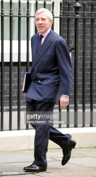 Justice Secretary Jack Straw arrives at 10 Downing Street for a cabinet meeting where the Chancellor Alistair Darling was revealing details of his...