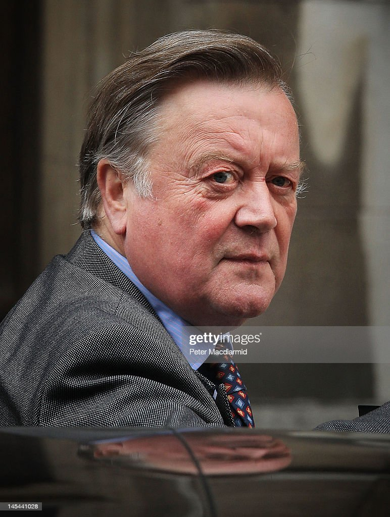 Justice Secretary Ken Clarke arrives at The Royal Courts of Justice give evidence to The Leveson Inquiry on May 30 2012 in London England This phase...