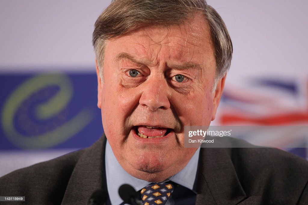 Justice Secretary <a gi-track='captionPersonalityLinkClicked' href=/galleries/search?phrase=Kenneth+Clarke&family=editorial&specificpeople=766951 ng-click='$event.stopPropagation()'>Kenneth Clarke</a> conducts a press conference after the first day of the Ministerial Conference on the Future of the European Court of Human Rights on April 19, 2012 in Brighton, England. Ministers and officials from the 47 member States of the Council of Europe are meeting at the conference in Brighton with the aim to reach an agreement on a package of reforms for the future of European Court of Human Rights over the next two days.