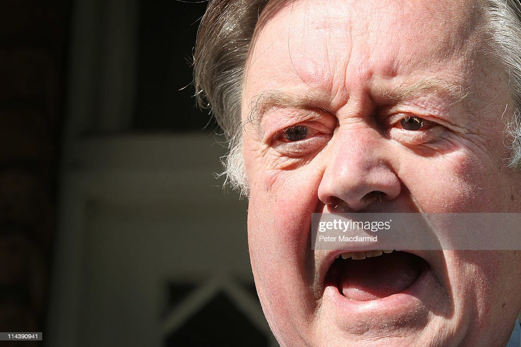 Justice Secretary Kenneth Clarke talks to reporters as he leaves home on May 19 2011 in London England Mr Clarke is facing criticism over his...