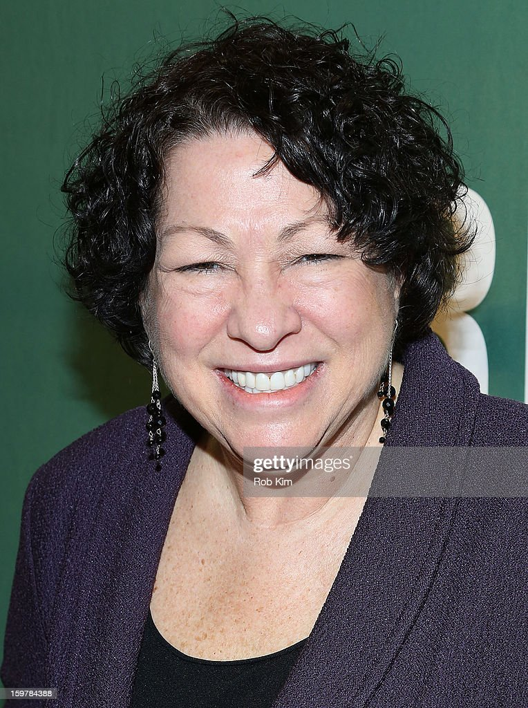 Justice Sonia Sotomayor promotes her new book 'My Beloved World' at Barnes & Noble Union Square on January 20, 2013 in New York City.
