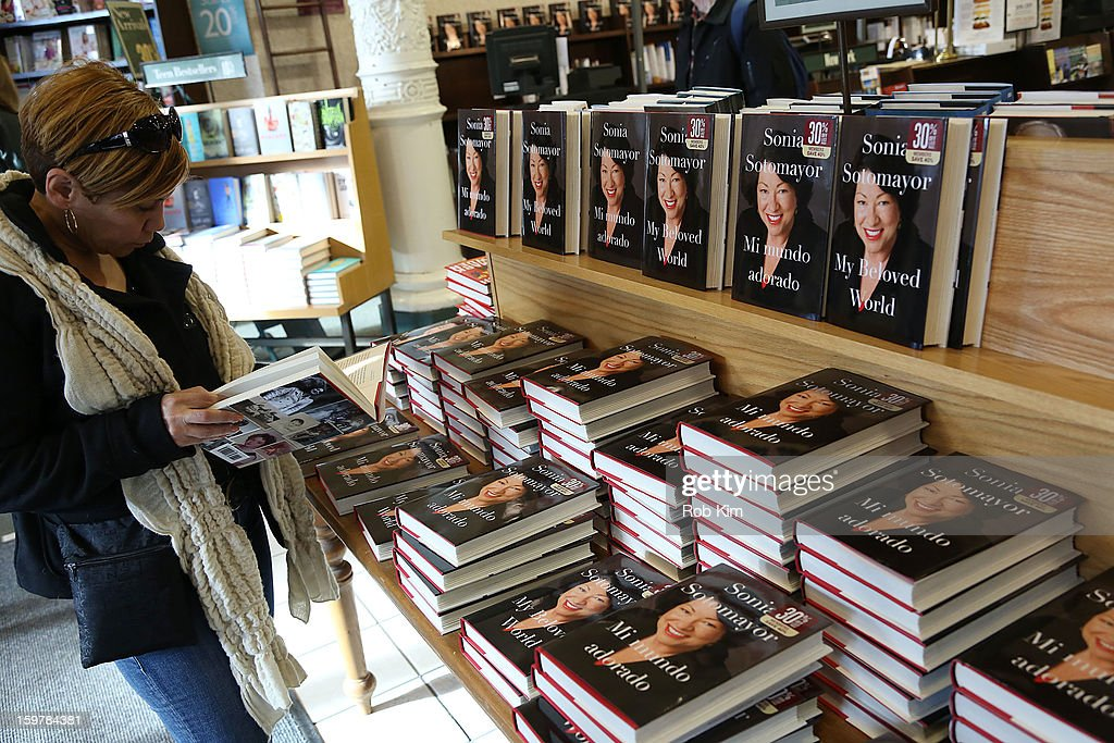 Justice Sonia Sotomayor's new book 'My Beloved World' at Barnes & Noble Union Square on January 20, 2013 in New York City.