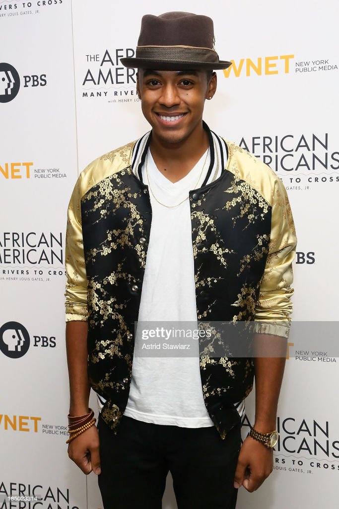 Justiin Davis attends 'The African Americans: Many Rivers to Cross' New York Series Premiere at the Paris Theater on October 16, 2013 in New York City.