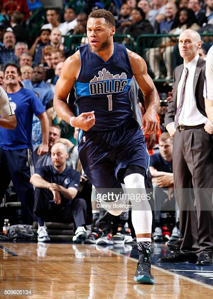 Justin Anderson of the Dallas Mavericks is seen during the game against the Miami Heat on February 3 2016 at the American Airlines Center in Dallas...
