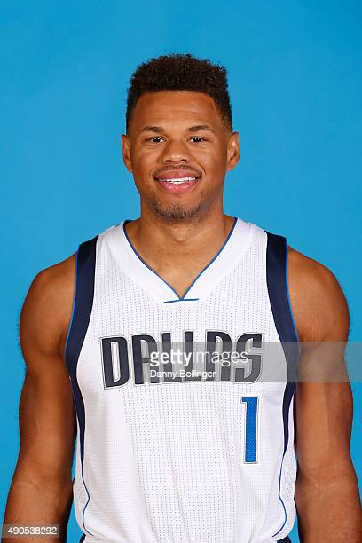 Justin Anderson of the Dallas Mavericks poses for a head shot during Media Day on September 28 2015 at the American Airlines Center in Dallas Texas...