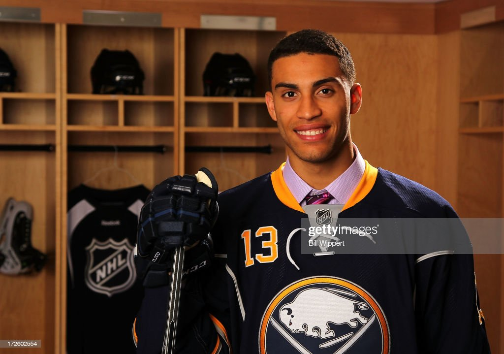 Justin Bailey, 52nd pick overall by the Buffalo Sabres, poses for a portrait during the 2013 NHL Draft at Prudential Center on June 30, 2013 in Newark, New Jersey.