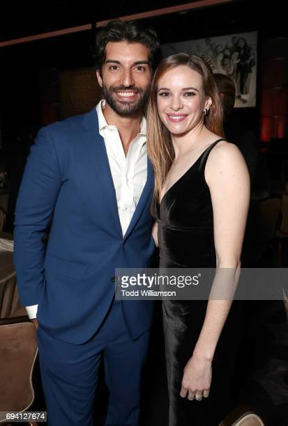 Justin Baldoni and Danielle Panabaker attend the 14th Annual Brass Ring Awards Dinner at The Beverly Hilton Hotel on June 8 2017 in Beverly Hills...