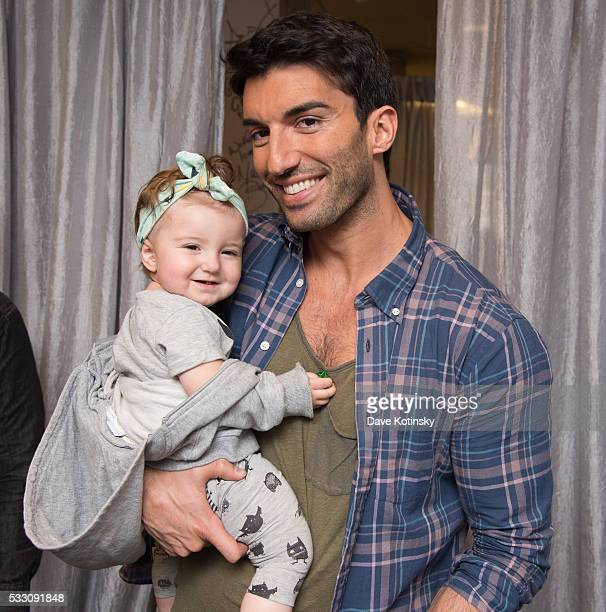 Justin Baldoni and Daughter Maiya Grace Baldoni attend AOL Build Presents 'Jane The Virgin' at AOL Studios In New York on May 20 2016 in New York City