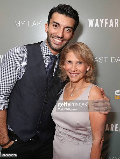 Justin Baldoni and Vice Chairwoman CBS Corporation and Viacom Shari Redstone attend a Screening Of CW's 'My Last Days' at The London Hotel on August...