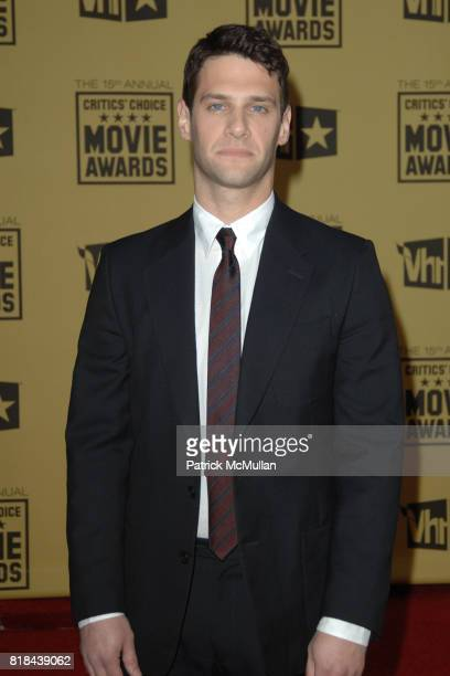 Justin Bartha attends 2010 Critics Choice Awards at The Palladium on January 15 2010 in Hollywood California