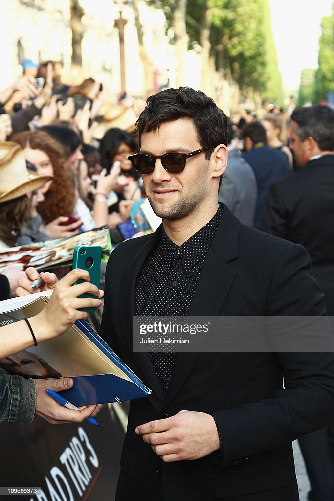 <a gi-track='captionPersonalityLinkClicked' href=/galleries/search?phrase=Justin+Bartha&family=editorial&specificpeople=653334 ng-click='$event.stopPropagation()'>Justin Bartha</a> attends 'Hangover - Very Bad Trip III' ('The Hangover Part III') Paris premiere at Cinema UGC Normandie on May 27, 2013 in Paris, France.