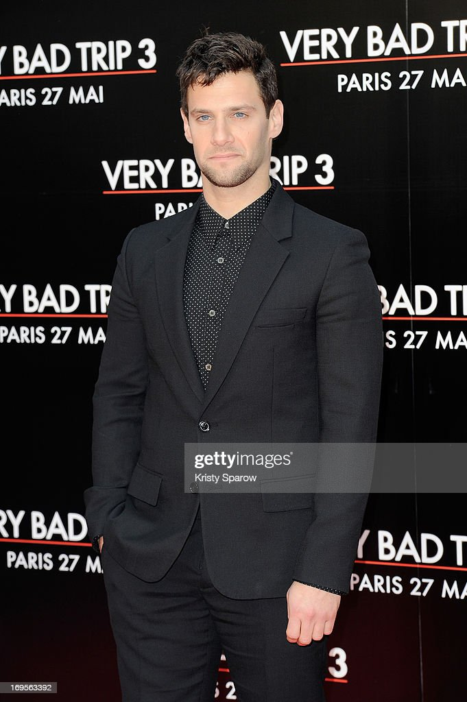 Justin Bartha attends the 'Hangover - Very Bad Trip III' ('The Hangover Part III') Paris premiere at Cinema UGC Normandie on May 27, 2013 in Paris, France.