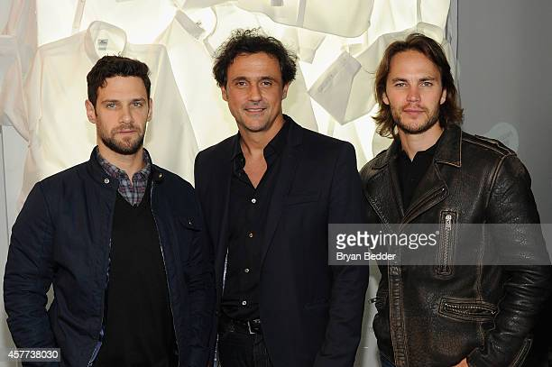 Justin Bartha Francis Pierrel and Taylor Kitsch attend GQ X Lacoste Celebrate Sport popup shop opening in NYC hosted by Paul Wesley on October 23...