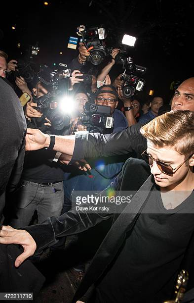 Justin Beiber arrives at Rihanna's Private Met Gala After Party at Up Down on May 4 2015 in New York City
