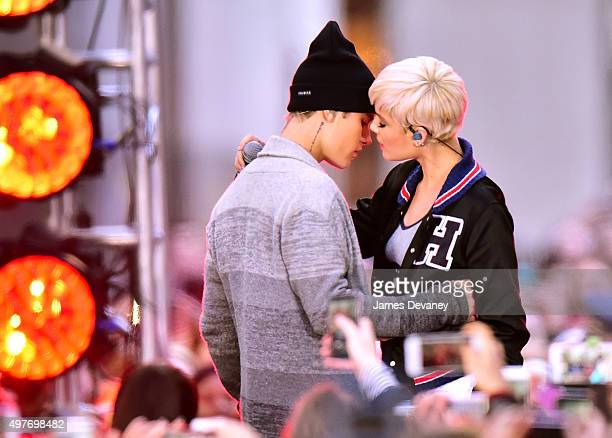 Justin Bieber and Halsey perform on NBC's 'Today' show on November 18 2015 in New York City